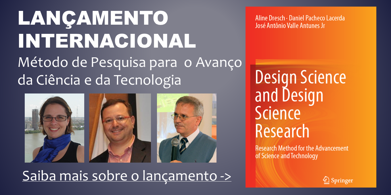GMAP | UNISINOS - Em Breve - Livro Design Science Research
