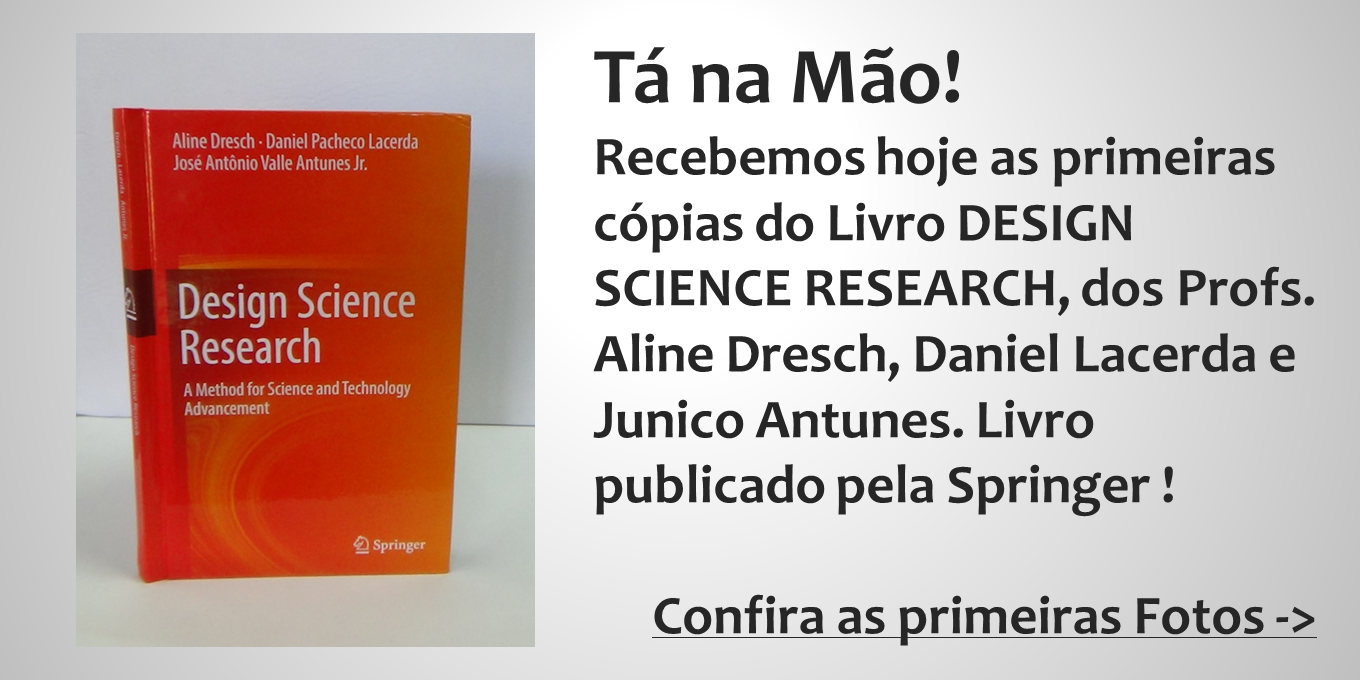 Livro Design Science Research Publicado!